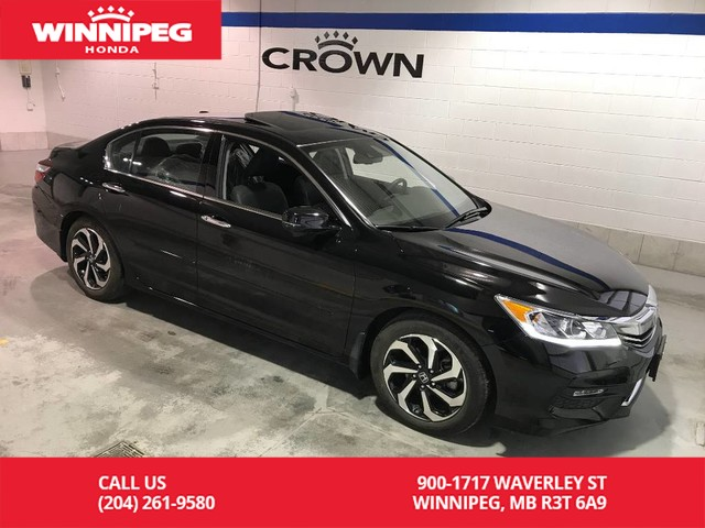 Certified Pre-Owned 2016 Honda Accord Sedan Certified/EX-L/ Sunroof/Bluetooth/ Heated seats/Sunroof