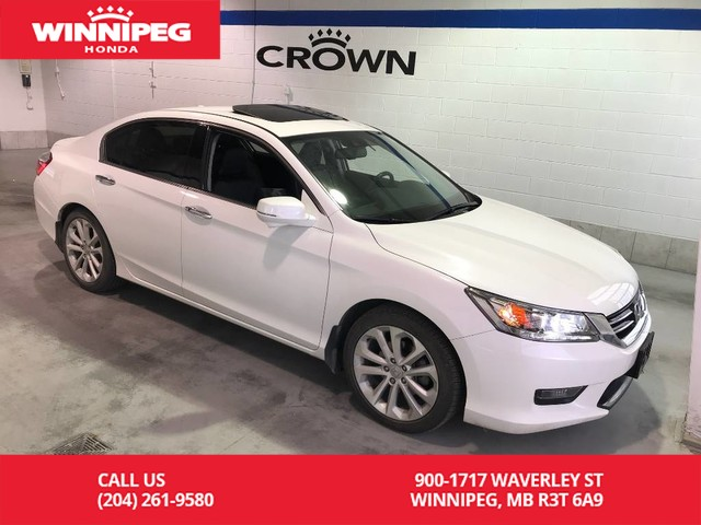Pre-Owned 2014 Honda Accord Sedan Touring/V6/Navigation/Bluetooth/Heated seats/Rear view camera