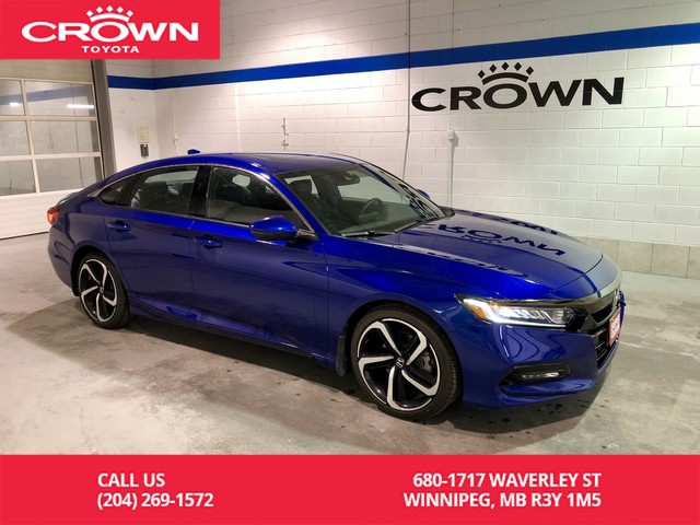Pre-Owned 2018 Honda Accord Sedan Sport / Lease Return / Clean Carproof / Low Kms / Honda Remote starter / Great Condition / Two sets Tires
