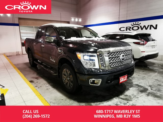 Pre-Owned 2017 Nissan Titan Platinum Reserve 4WD Crew Cab / Crown Original / Clean Carproof / Lease Return