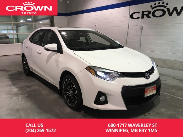 Certified Pre-Owned 2016 Toyota Corolla S Tech Pkg / Clean Carproof / Manitoba Vehicle / One Owner / Leather