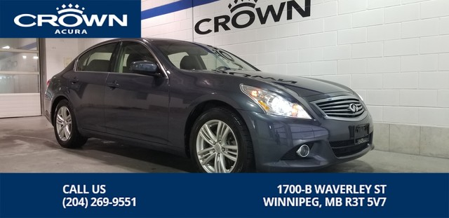 Pre-Owned 2012 INFINITI G37 Sedan Luxury AWD **Includes Winter Tires on Rims**