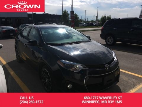 Pre-Owned 2016 Toyota Corolla S Tech Pkg / Crown Original / Lease Return / Leather / Low Kms