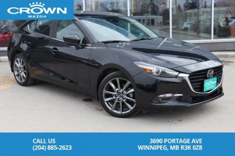 Pre-Owned 2018 Mazda3 GT *LOCAL ONE OWNER TRADE WITH 100% CLEAN CARFAX REPORT*