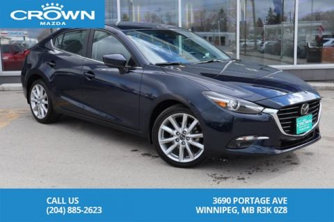 Pre-Owned 2017 Mazda3 GT **Unlimited KM Warranty/Accident Free**