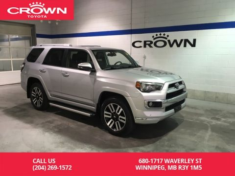 Certified Pre-Owned 2017 Toyota 4Runner Limited 4WD 5 Pass / Crown Original / Low Kms/ Great Value
