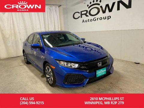 Pre-Owned 2017 Honda Civic Hatchback 5dr CVT LX/ ONE OWNER/ LOW KMS/ HEATED FRONT SEATS/ BACKUP CAMERA/ BLUETOOTH