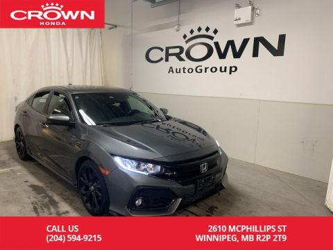 Pre-Owned 2017 Honda Civic Hatchback Sport w/Honda Sensing/ ONE OWNER/ CLEAN TITLE/ VERY LOW KMS